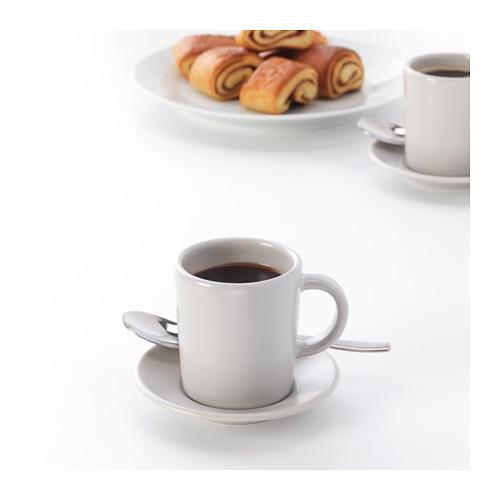 DINERA - 意大利咖啡杯連碟, 米黃色   IKEA 香港及澳門 - PE701197_S4