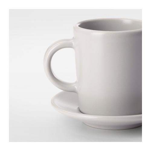 DINERA - 意大利咖啡杯連碟, 米黃色   IKEA 香港及澳門 - PE701199_S4