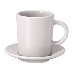 DINERA - 意大利咖啡杯連碟, 米黃色 | IKEA 香港及澳門 - PE701198_S3