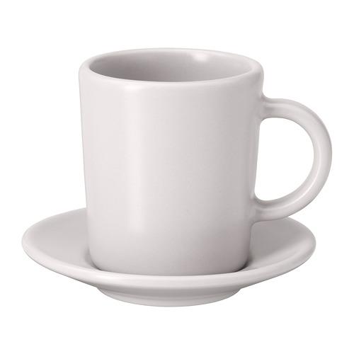 DINERA - 意大利咖啡杯連碟, 米黃色   IKEA 香港及澳門 - PE701198_S4