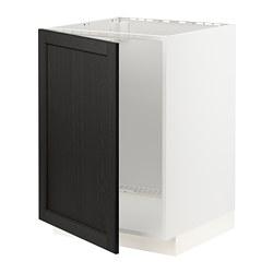 METOD - 星盆用地櫃, 白色/Lerhyttan 染黑色 | IKEA 香港及澳門 - PE796404_S3