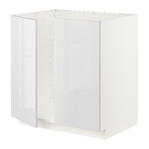 METOD - 星盆用地櫃連一對門, 白色/Ringhult 白色 | IKEA 香港及澳門 - PE796326_S4