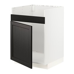 METOD - HAVSEN單星盆底櫃, 白色/Lerhyttan 染黑色 | IKEA 香港及澳門 - PE796328_S3