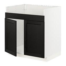 METOD - HAVSEN雙星盆底櫃, 白色/Lerhyttan 染黑色 | IKEA 香港及澳門 - PE796361_S3