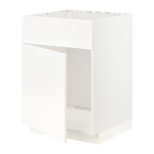 METOD - base cabinet f sink w door/front, white/Veddinge white | IKEA Hong Kong and Macau - PE796410_S4
