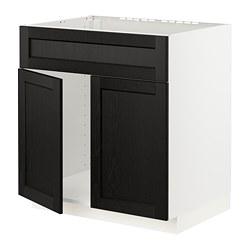 METOD - 星盆用地櫃連一對門/面板, white/Lerhyttan black stained | IKEA 香港及澳門 - PE796411_S3