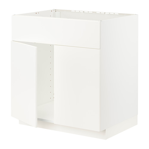 METOD - base cabinet f sink w 2 doors/front, white/Veddinge white | IKEA Hong Kong and Macau - PE796363_S4