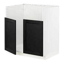 METOD - BREDSJÖN雙星盆底櫃, white/Lerhyttan black stained   IKEA 香港及澳門 - PE796417_S3