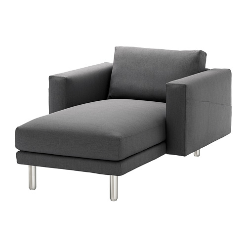 NORSBORG - chaise longue, Finnsta dark grey/metal | IKEA Hong Kong and Macau - PE654097_S4