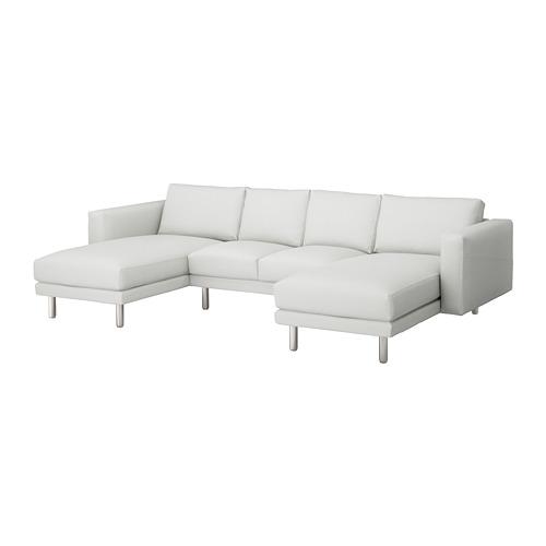 NORSBORG - 4-seat sofa, with chaise longues/Finnsta white/metal | IKEA Hong Kong and Macau - PE654102_S4