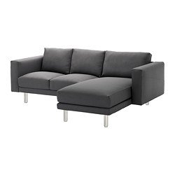 NORSBORG - 3-seat sofa, with chaise longue/Finnsta dark grey/metal | IKEA Hong Kong and Macau - PE654103_S3