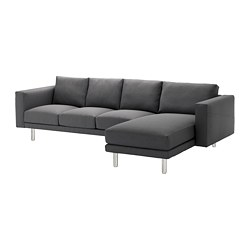 NORSBORG - 4-seat sofa, with chaise longue/Finnsta dark grey/metal | IKEA Hong Kong and Macau - PE654107_S3