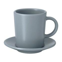 DINERA - 意大利咖啡杯連碟, 灰藍色 | IKEA 香港及澳門 - PE701206_S3