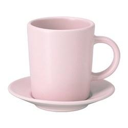 DINERA - 意大利咖啡杯連碟, 淺粉紅色 | IKEA 香港及澳門 - PE701210_S3