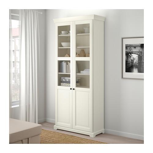 LIATORP 玻璃門書櫃