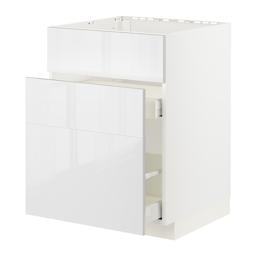 METOD/MAXIMERA - base cab f sink+3 fronts/2 drawers, white/Ringhult white | IKEA Hong Kong and Macau - PE796418_S4