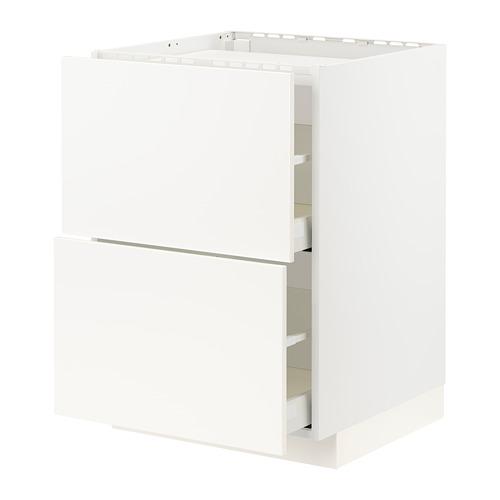 METOD/MAXIMERA - base cab f hob/2 fronts/2 drawers, white/Veddinge white   IKEA Hong Kong and Macau - PE796457_S4
