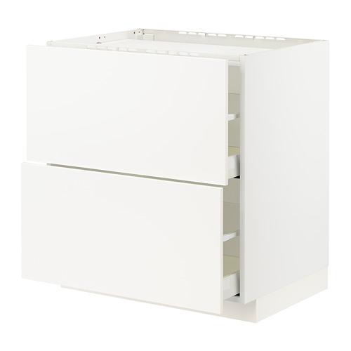 METOD/MAXIMERA - base cab f hob/2 fronts/2 drawers, white/Veddinge white | IKEA Hong Kong and Macau - PE796450_S4