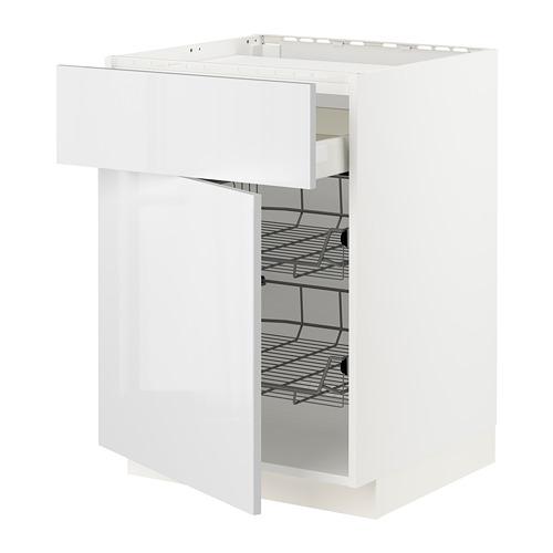 METOD/MAXIMERA - base cab f hob/drawer/2 wire bskts, white/Ringhult white | IKEA Hong Kong and Macau - PE796333_S4