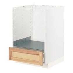 METOD/MAXIMERA - 焗爐用地櫃連抽屜, white/Torhamn ash | IKEA 香港及澳門 - PE796373_S3