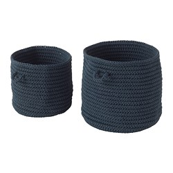 NORDRANA - basket, set of 2, blue | IKEA Hong Kong and Macau - PE701369_S3