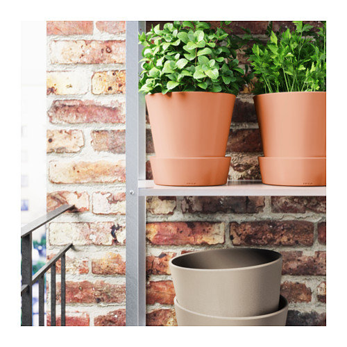 INGEFÄRA - plant pot with saucer, outdoor/terracotta | IKEA Hong Kong and Macau - PE593943_S4