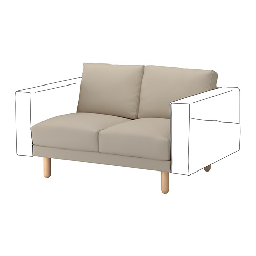 NORSBORG - 兩座位組合, Edum 米黃色/樺木 | IKEA 香港及澳門 - PE654261_S4