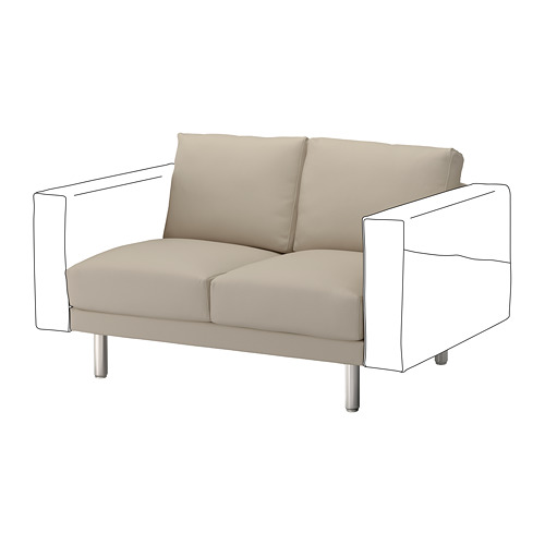 NORSBORG - 2-seat section, Edum beige/metal | IKEA Hong Kong and Macau - PE654262_S4