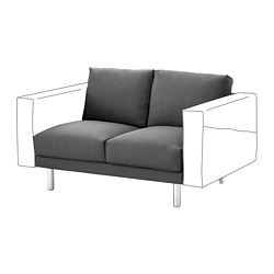 NORSBORG - 兩座位組合, Finnsta 深灰色/金屬 | IKEA 香港及澳門 - PE654266_S3