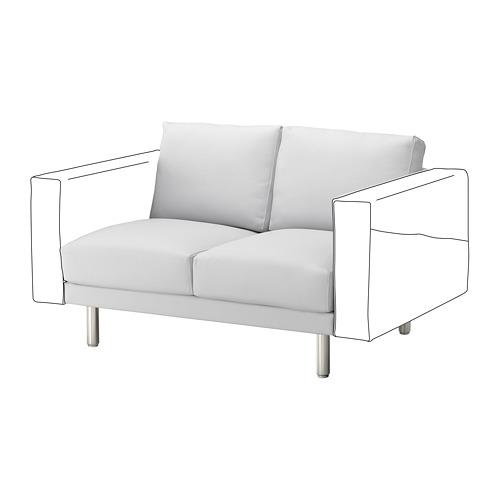 NORSBORG - 兩座位組合, Finnsta 白色/金屬 | IKEA 香港及澳門 - PE654268_S4