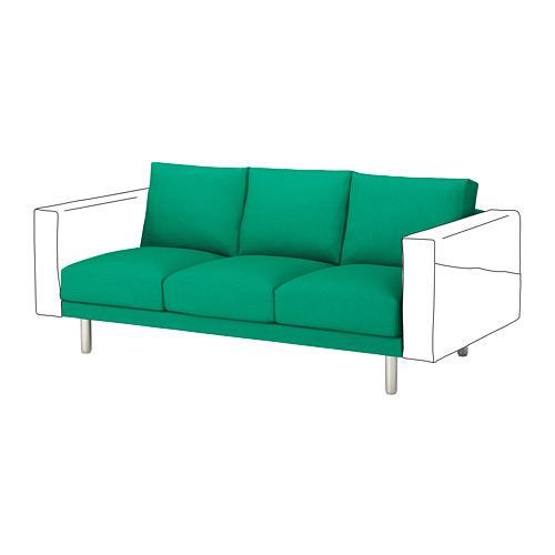 NORSBORG - 3-seat section, Edum bright green/metal | IKEA Hong Kong and Macau - PE654289_S4