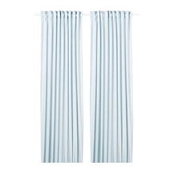 HANNALILL - 窗簾,一對, 藍色 | IKEA 香港及澳門 - PE742768_S3