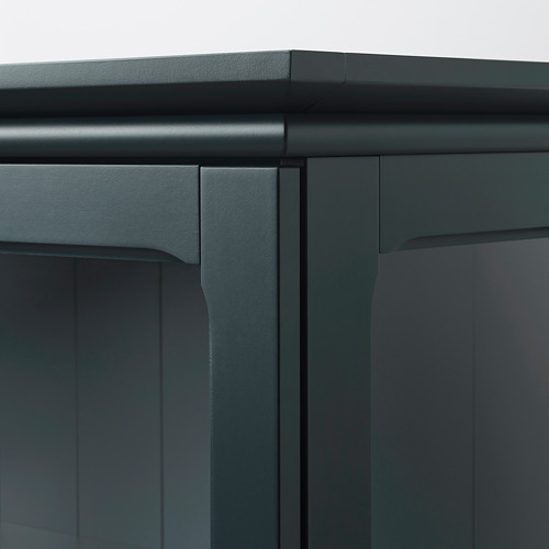 LOMMARP - 玻璃門貯物櫃, 深藍綠色 | IKEA 香港及澳門 - PE742808_S4