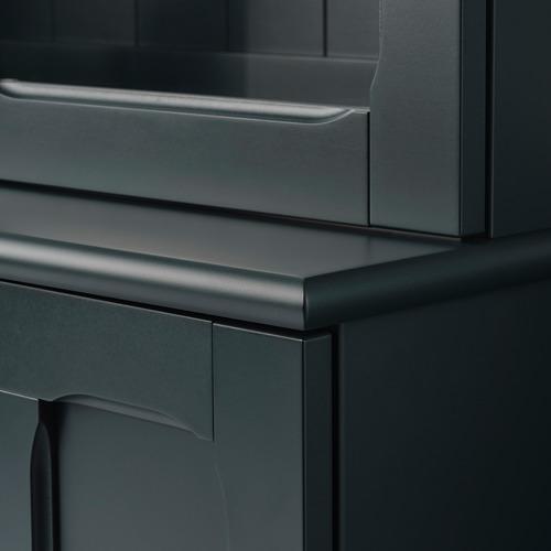 LOMMARP - 玻璃門貯物櫃, 深藍綠色 | IKEA 香港及澳門 - PE742814_S4