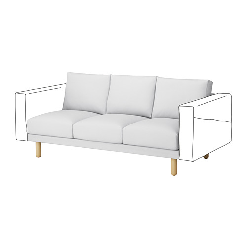 NORSBORG - 3-seat section, Finnsta white/birch | IKEA Hong Kong and Macau - PE654292_S4