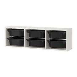 TROFAST - wall storage, white/black | IKEA Hong Kong and Macau - PE701457_S3