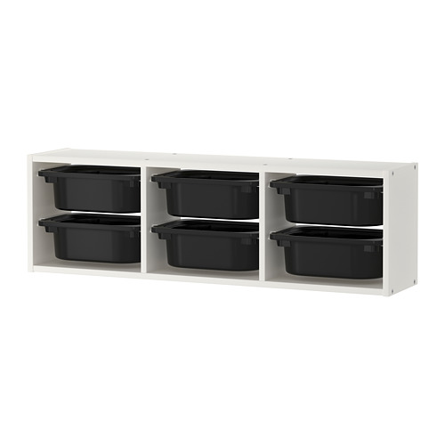 TROFAST - wall storage, white/black | IKEA Hong Kong and Macau - PE701457_S4