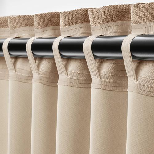 ANNAKAJSA - 半遮光窗簾,一對, 米黃色   IKEA 香港及澳門 - PE742838_S4