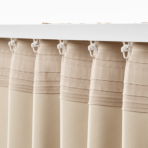 ANNAKAJSA - 半遮光窗簾,一對, 米黃色   IKEA 香港及澳門 - PE742837_S4