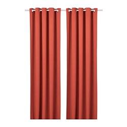 HILLEBORG - 半遮光窗簾,一對, 啡紅色 | IKEA 香港及澳門 - PE742853_S3