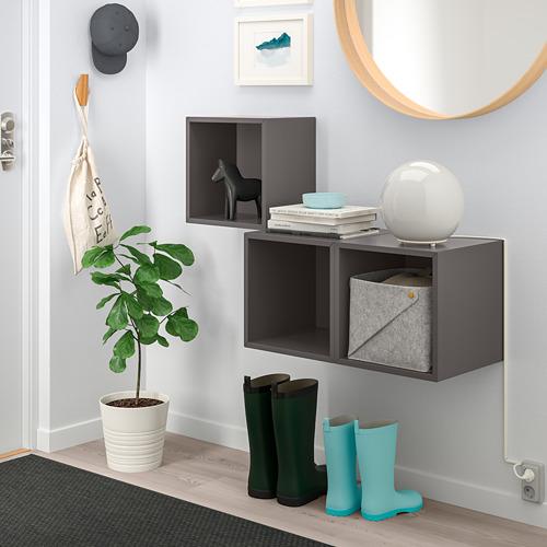 EKET - wall-mounted cabinet combination, dark grey | IKEA Hong Kong and Macau - PE742865_S4