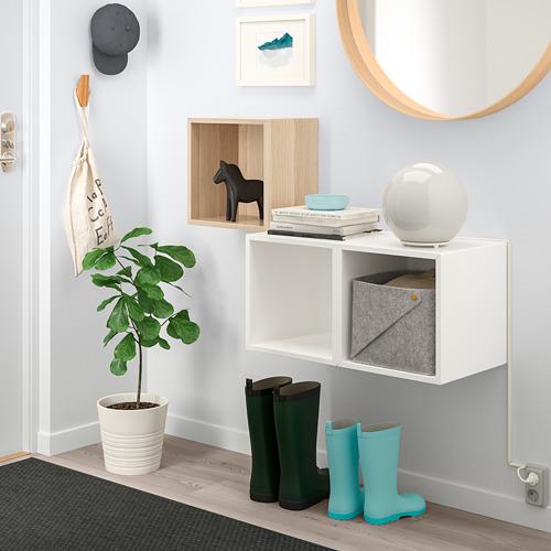 EKET - 上牆式貯物組合, 染白橡木紋/白色 | IKEA 香港及澳門 - PE742862_S4