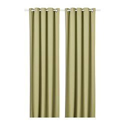 HILLEBORG - 半遮光窗簾,一對, 淺橄欖綠色 | IKEA 香港及澳門 - PE742857_S3
