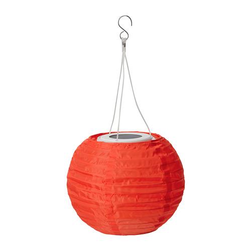 SOLVINDEN - 太陽能LED吊燈, 戶外/球形 橙色 | IKEA 香港及澳門 - PE796672_S4