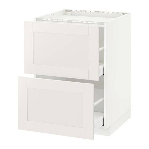 METOD/MAXIMERA - base cab f hob/2 fronts/2 drawers, white/Sävedal white | IKEA Hong Kong and Macau - PE528736_S4