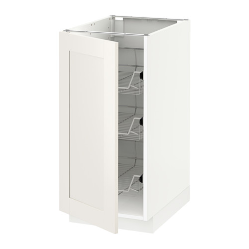 METOD - base cabinet with wire baskets, white/Sävedal white | IKEA Hong Kong and Macau - PE528742_S4