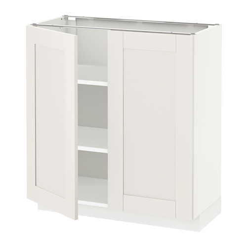 METOD - base cabinet with shelves/2 doors, white/Sävedal white | IKEA Hong Kong and Macau - PE528743_S4