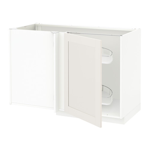METOD - corner base cab w pull-out fitting, white/Sävedal white | IKEA Hong Kong and Macau - PE528760_S4