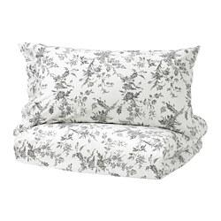 ALVINE KVIST - 被套連2個枕袋, 白色/灰色, 200x200/50x80 cm  | IKEA 香港及澳門 - PE701535_S3