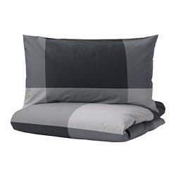 BRUNKRISSLA - 被套枕袋套裝, 黑色, 150x200/50x80 cm  | IKEA 香港及澳門 - PE701579_S3
